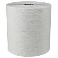 Rouleaux d'essuie-mains 1 épaisseur Essentials Plus+ Scott, blanc, 600pi, caisse de 6