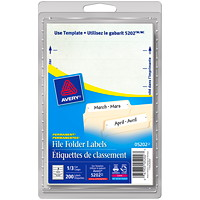 Avery 5202 File Folder Labels, White, 3 1/2