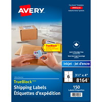 Avery White Shipping Labels with TrueBlock Technology