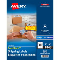 Avery 8163 Shipping Labels with TrueBlock Technology, White, 2