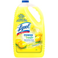 Lysol Power and Fresh Lemon Scent Pourable Multi-Surface Liquid Cleaner, 4.26 L