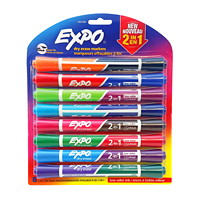 Expo 2-in-1 Dry-Erase Markers, Chisel-Tip