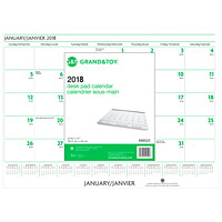 Grand & Toy Monthly Desk Pad Calendar