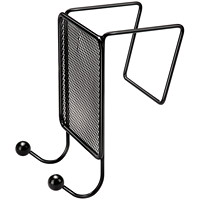 Fellowes Partition Additions Black Double Coat Hook