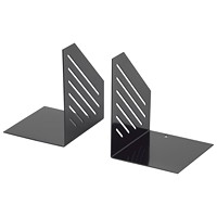 Merangue Black Modern Rectangular Bookends