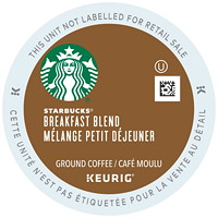 Starbucks Coffee Single-Serve K-Cup Pods, Breakfast Blend, 24/BX