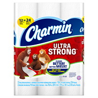 Charmin Ultra Strong 2-Ply White Double Roll Bathroom Tissue