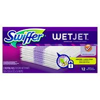 Recharges de coussins nettoyants WetJet Swiffer, emb. de 12