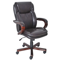 True Carlin Executive High-Back Leather Chair
