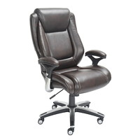 True Endsleigh Big and Tall High-Back Bonded Leather Executive Chair