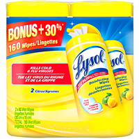 Lysol Citrus Scent Disinfecting Wipes, 80 Wipes/Pack, 2/Pack