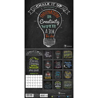 TF Publishing Chalk It Up Monthly Wall Calendar, 7