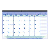 Blueline Monthly Desk Pad or Wall Calendar