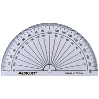 Westcott 180-Degree Protractor