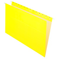 Grand & Toy Hanging Folders, Yellow, Legal-Size, 25/BX