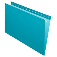Grand & Toy Hanging Folders, Teal, Legal-Size, 25/BX