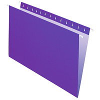 Grand & Toy Hanging Folders, Violet, Legal-Size, 25/BX