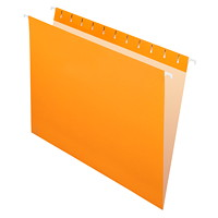 Chemises suspendues Grand & Toy, orange, format lettre, boîte de 25