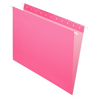 Grand & Toy Hanging Folders, Pink, Letter-Size, 25/BX