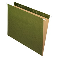 Grand & Toy Hanging Folders, Green, Letter-Size, 25/BX