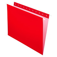 Grand & Toy Hanging Folders, Red, Letter-Size, 25/BX