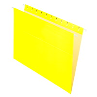 Grand & Toy Hanging Folders, Yellow, Letter-Size, 25/BX