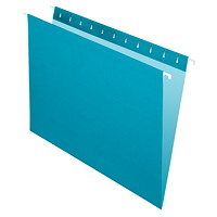 Grand & Toy Hanging Folders, Teal, Letter-Size, 25/BX