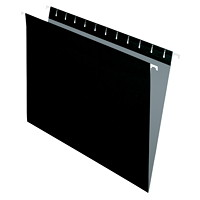 Grand & Toy Hanging Folders, Black, Letter-Size, 25/BX