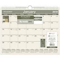 At-A-Glance Recycled 2018 Monthly Wall Calendar