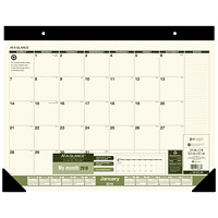 At-A-Glance Recycled Monthly Calendar Desk Pad