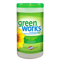 Clorox Green Works Natural Compostable Cleaning Wipes, 62/Count