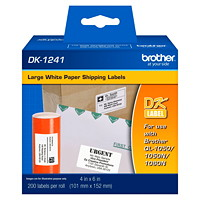 Brother White Paper Labels