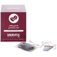 DAVIDsTEA Sachets Boxed Coffee Pu'erh Tea, 12/Box
