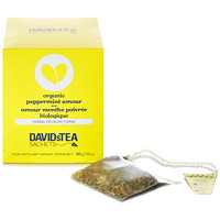DAVIDsTEA Sachets Boxed Peppermint Amour Herbal Tea, 12/Box