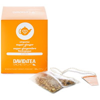 DAVIDsTEA Sachets Boxed Super Ginger Rooibos Tea, 12/Box