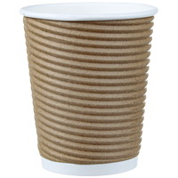 Café Express Insulated Rippled Hot Cups, 10 oz, 100/PK