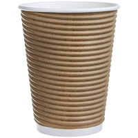 Café Express Insulated Rippled Hot Cups, 12 oz, 100/PK