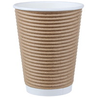 Café Express Insulated Rippled Hot Cups, 16 oz, 100/PK