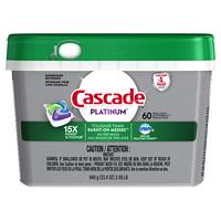 Cascade Platinum Dishwasher Detergent ActionPacs, Fresh Scent, 60/PK