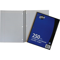 Hilroy Executive Coil 1-Subject Notebook, Blue, 10 1/2