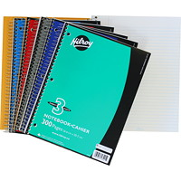 Hilroy Executive Coil 3-Subject Notebook, Assorted Colours (No Colour Choice On Delivered Orders), 10 1/2