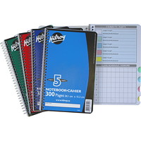 Hilroy Executive Coil 5-Subject Notebook, Assorted Colours (No Colour Choice On Delivered Orders), 9 1/2