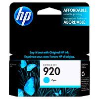 Cartouche d'encre à rendement standard HP 920 (CH634AN), cyan
