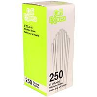 Pailles pour lait fouetté en plastique Café Express, blanc, 8po, boîte de 250