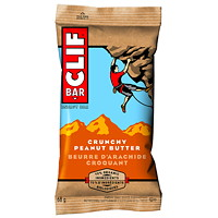 CLIF Bar Energy Bars, Crunchy Peanut Butter, 68 g, 12/BX