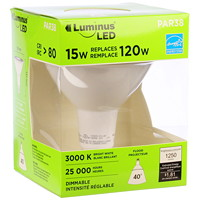 Ampoule à DEL Luminus LED, Par38, 15 W, intensité réglable, blanc brillant, emb. de 1