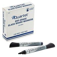 Quartet Premium Glass Dry-Erase Markers, Black, 12/BX
