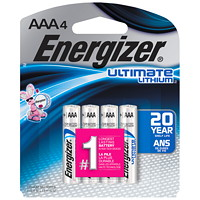 Energizer AAA Ultimate Lithium Batteries