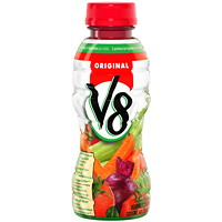 V8 Vegetable Juice, Original, 354 mL Bottle, 12/CS