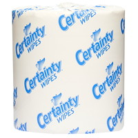 Certainty Pre-Moistened Surface Disinfectant Wipes, 1,000 Wipes/Roll, 2 Rolls/Case